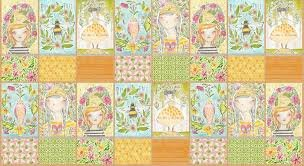 For the Love of Bees Panel of Minis 12 x 44