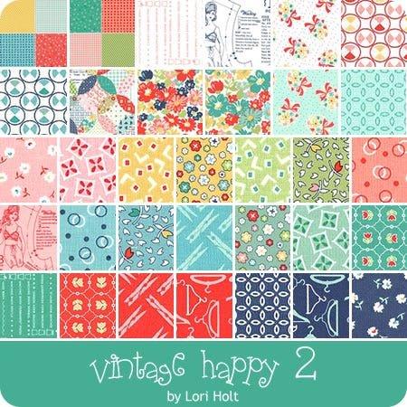 Vintage Happy Two 29 FQ & 2 Panel Bundle