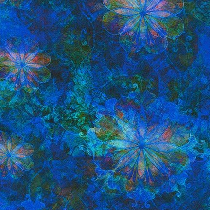 Venice Variegated Floral - Sapphire- 19721-74