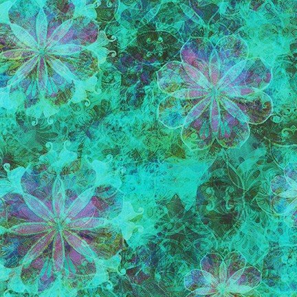 Venice Variegated Floral - Turquoise - 19721-81