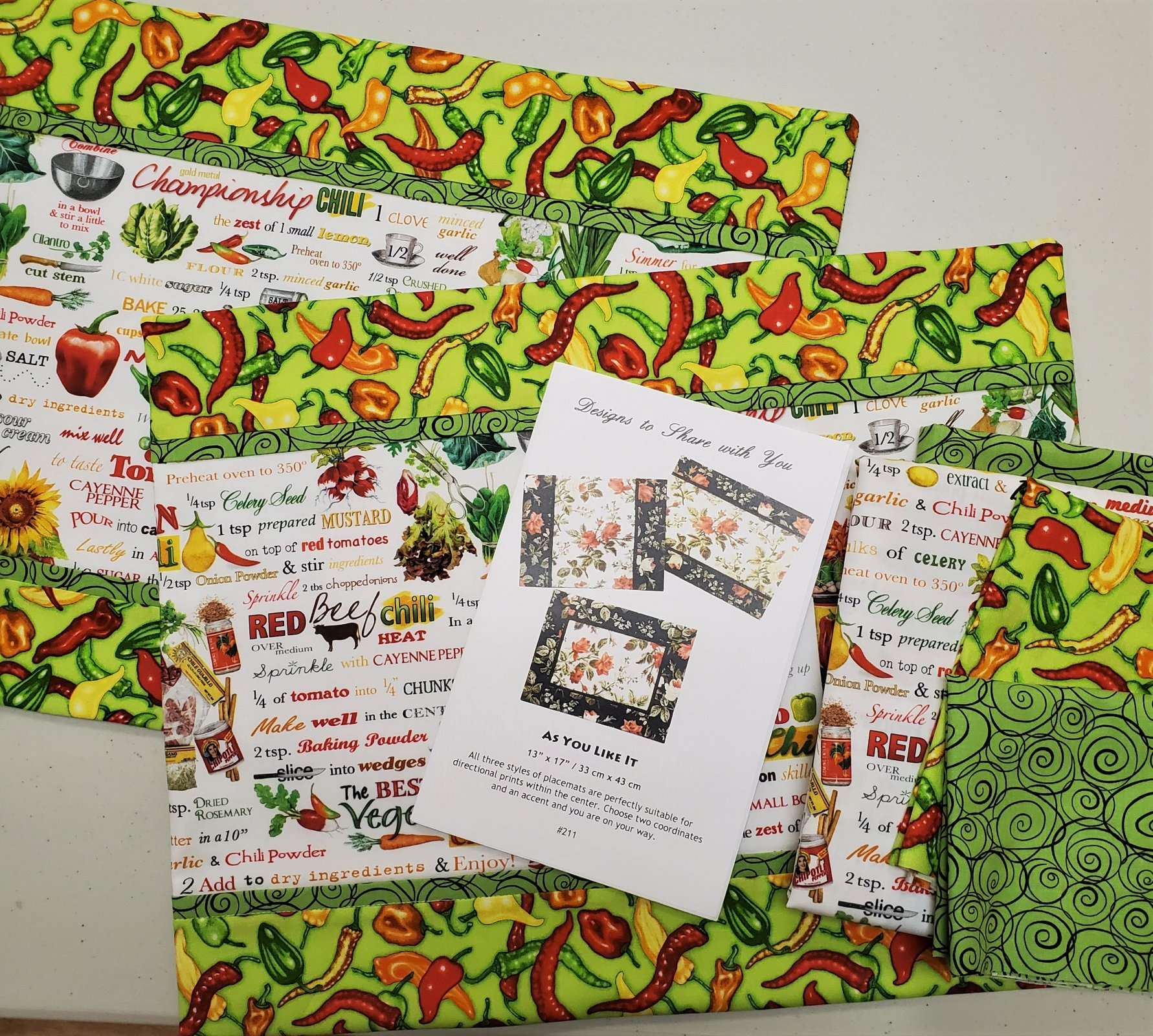 As You Like It Chili Placemat Kit