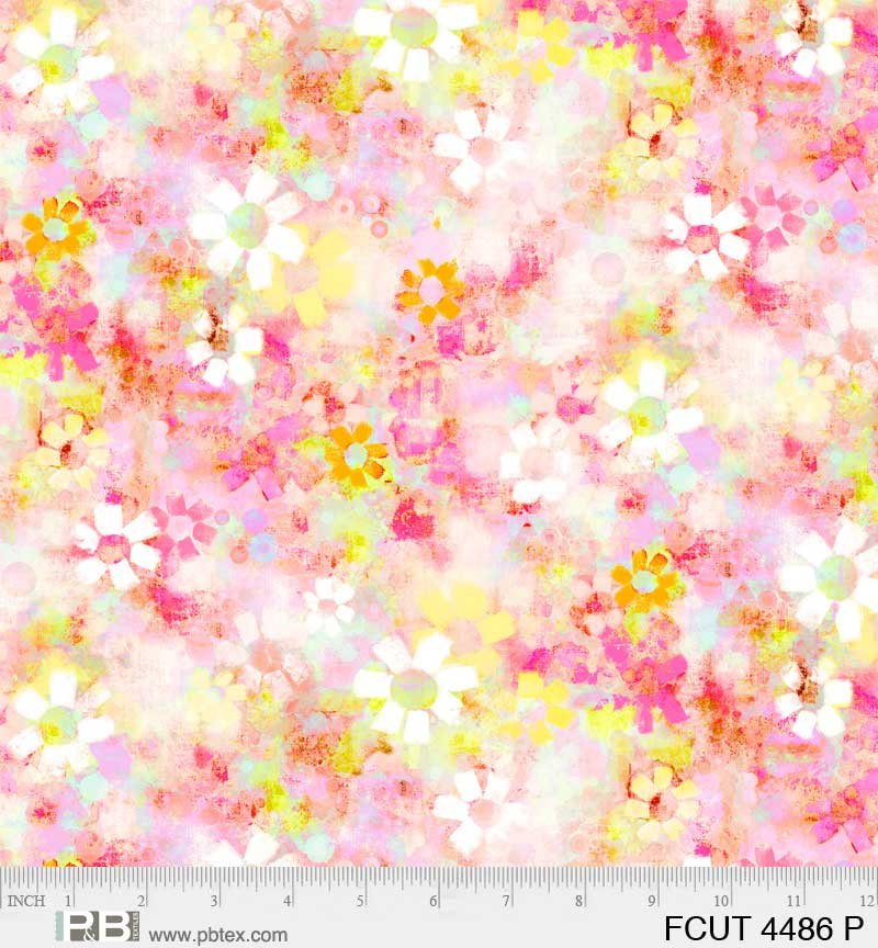 Fresh Cut Texture with Floral - Pink - 04486P