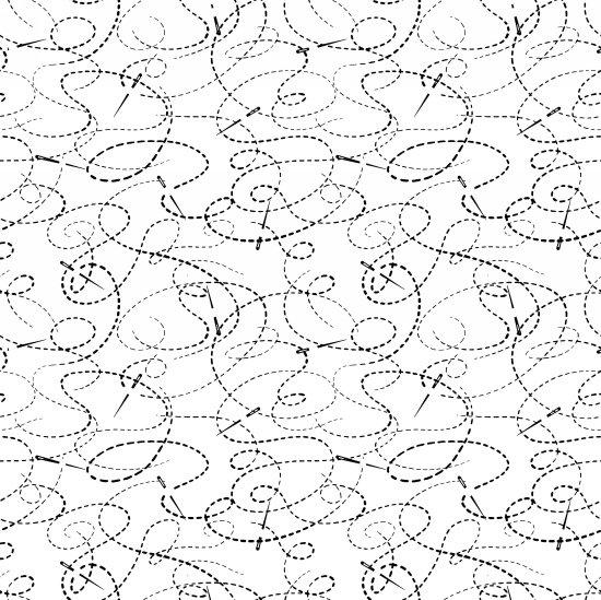Needle & Thread 108 White/Black