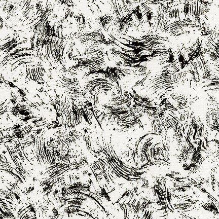 Pen and Ink 2 - Black Brush Swirls on White - 18393-188