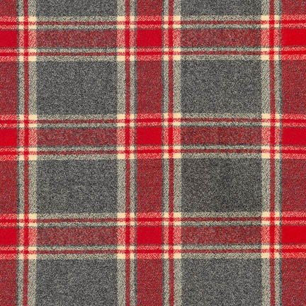 Flannel - Mammoth Red and Gray