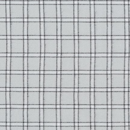 Flannel - Brooklyn Plaid Silver with Black Lines