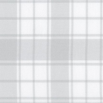 Flannel - Brooklyn Plaid Silver and White