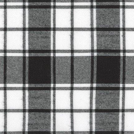Flannel - Brooklyn Plaid Black and White