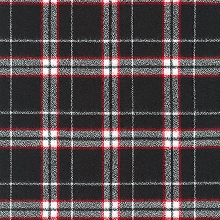 Flannel - Mammoth Black with Red/White Plaid