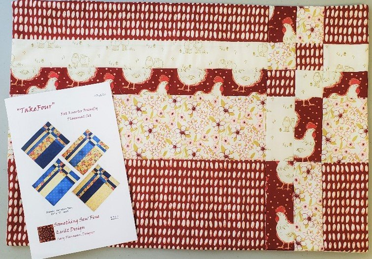 Homestead Burgundy Take Four Placemat Kit