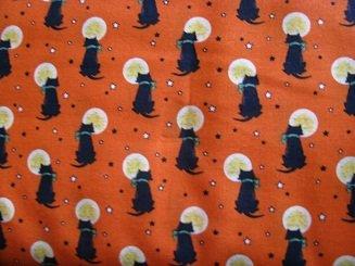 Marcus Fabrics Trick and Treats Too  black cat/orange