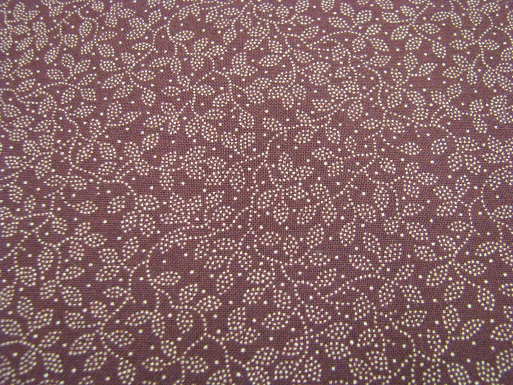 Moda Cattails and Clover - dots - deep red