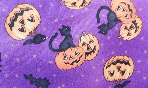 Blank BOO  pumpkins/bats, cats & crows/plum