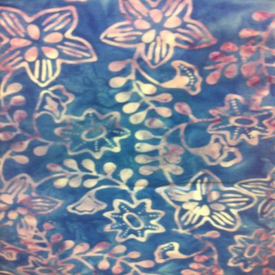 Batavian Batiks blue/flowers