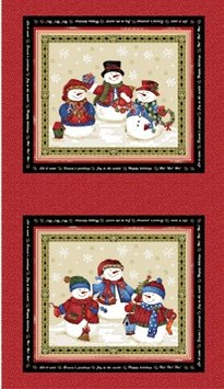 Benartex Winter Wishes Snowmen/red pane (ben2)