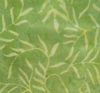 Batik Textiles green/sea weed  9D