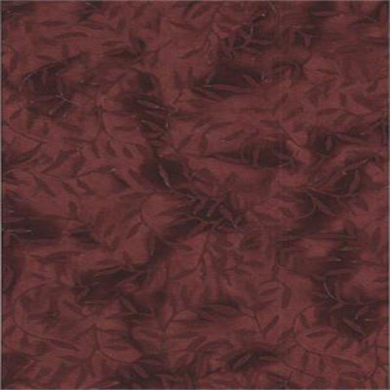 Batik Textiles brown/leaves