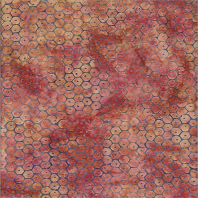 Batik Textiles honeycomb/molted colors