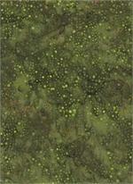 Batik Textiles med green/dots