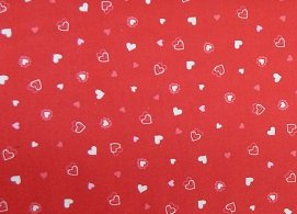 Exclusively Quilters Be My Valentine red/hearts