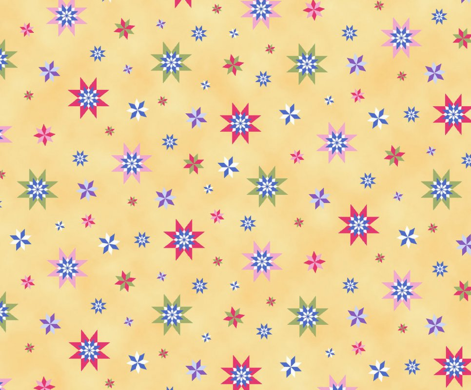 Elizabeth's Studio Winter Quilts  Princesses yellow/stars