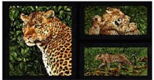 Exclusively Quilters Leopard pannel  EQ1