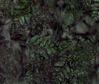 Hoffman Batik Dublin greens/purples ferns