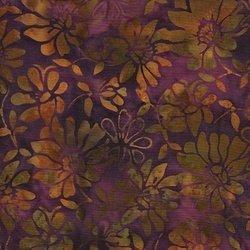 Island Batik purple/rust/olive   9E
