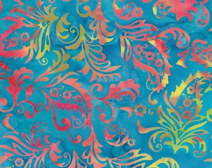 Island Batik Prairie Fortune Teller/Paisley floral waterfall