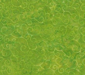 Island Batik Prairie Fortune Teller//Swirl Kiwi