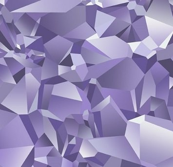Northcott Facet All over facets/purple