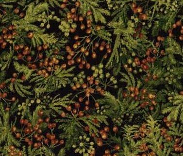 Northcott Naturescapes green/cedar/berries