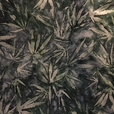 Quilting Treasures Cannabis dark olive/ leaves
