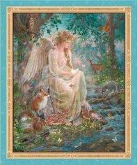 Quilting Treasures Fairy/Woodland animal/panel