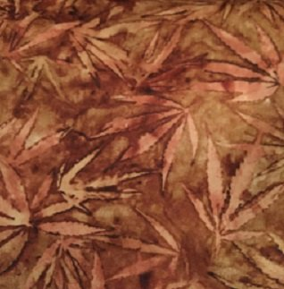 Quilting Treasures Cannabis brown/leaves