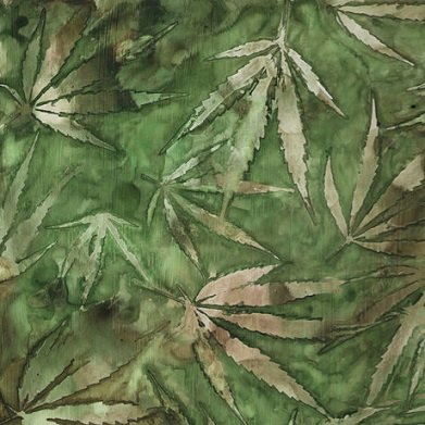 Quilting Treasures Cannabis green/leaves