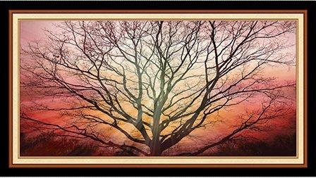 Quilting Treasures Digital Art lV/bare tree/sunrise
