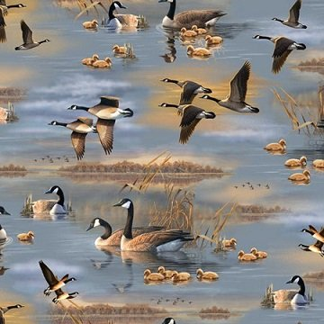 Quilting Treasures Flying Geese geese/blue