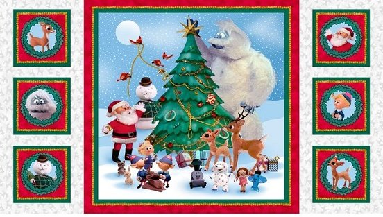 quilting treasures rudolph and friends qt 7 - Rudolph And Friends Christmas Decorations