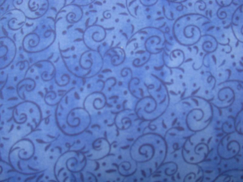 Clothworks Blue vine on blue