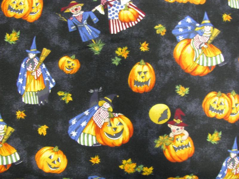 Northcott Harvest Moon Halloween characters (2G)