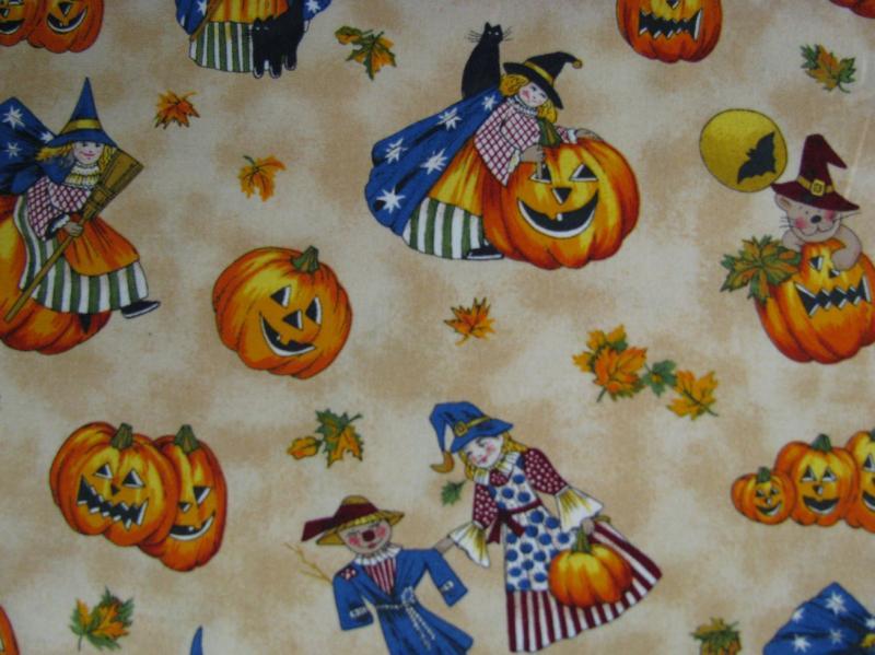 Northcott Harvest Moon Children in costumes (2G)
