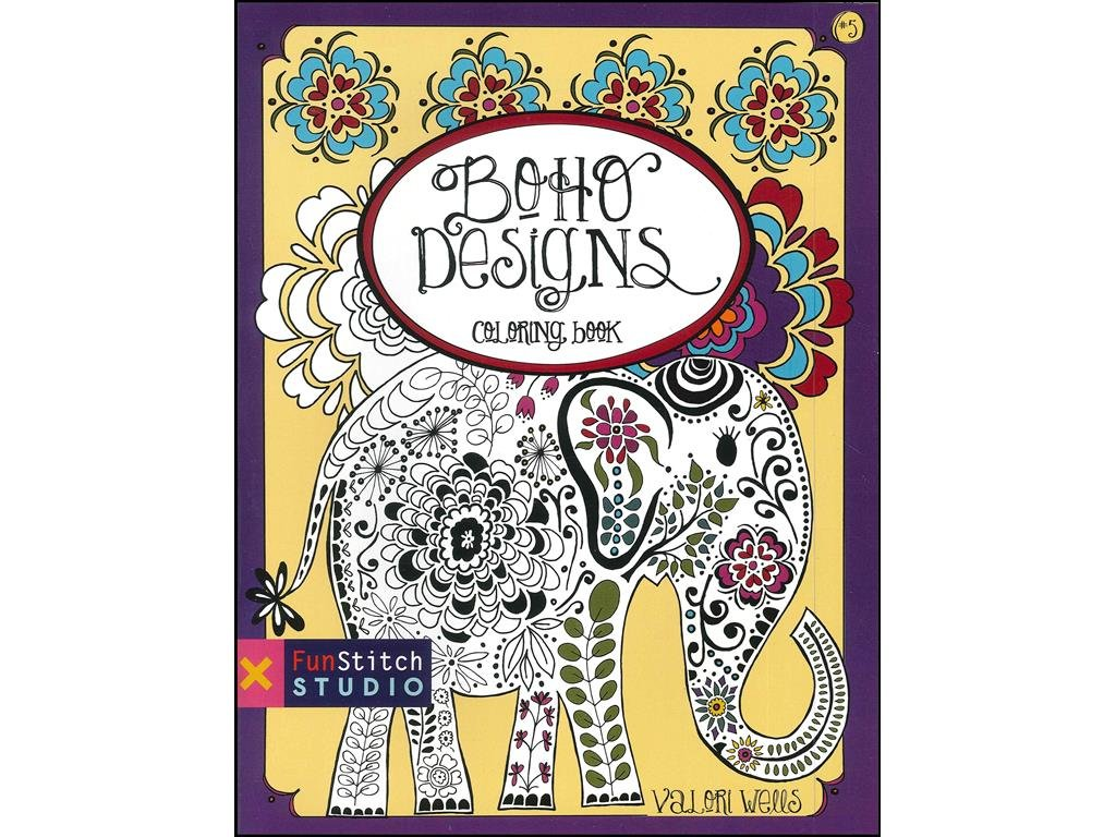 Funstitch Studio Boho Designs Coloring Book