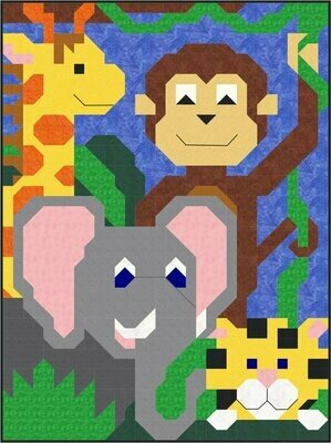 Jungle Pals Quilt Pattern