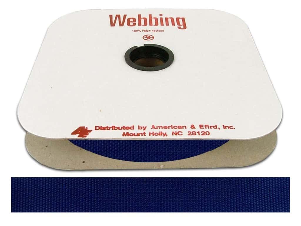 Polypropylene Webbing  - 1 inch Victoria Blue