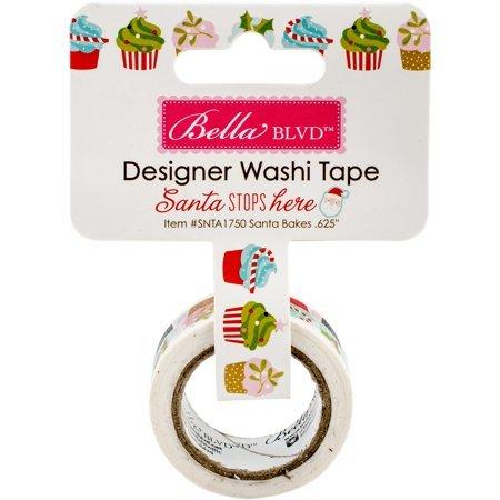 Designer Washi Tape - Santa Stops Here