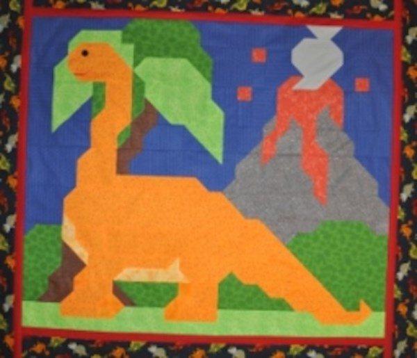 BRONTOSAURUS  Quilt Pattern