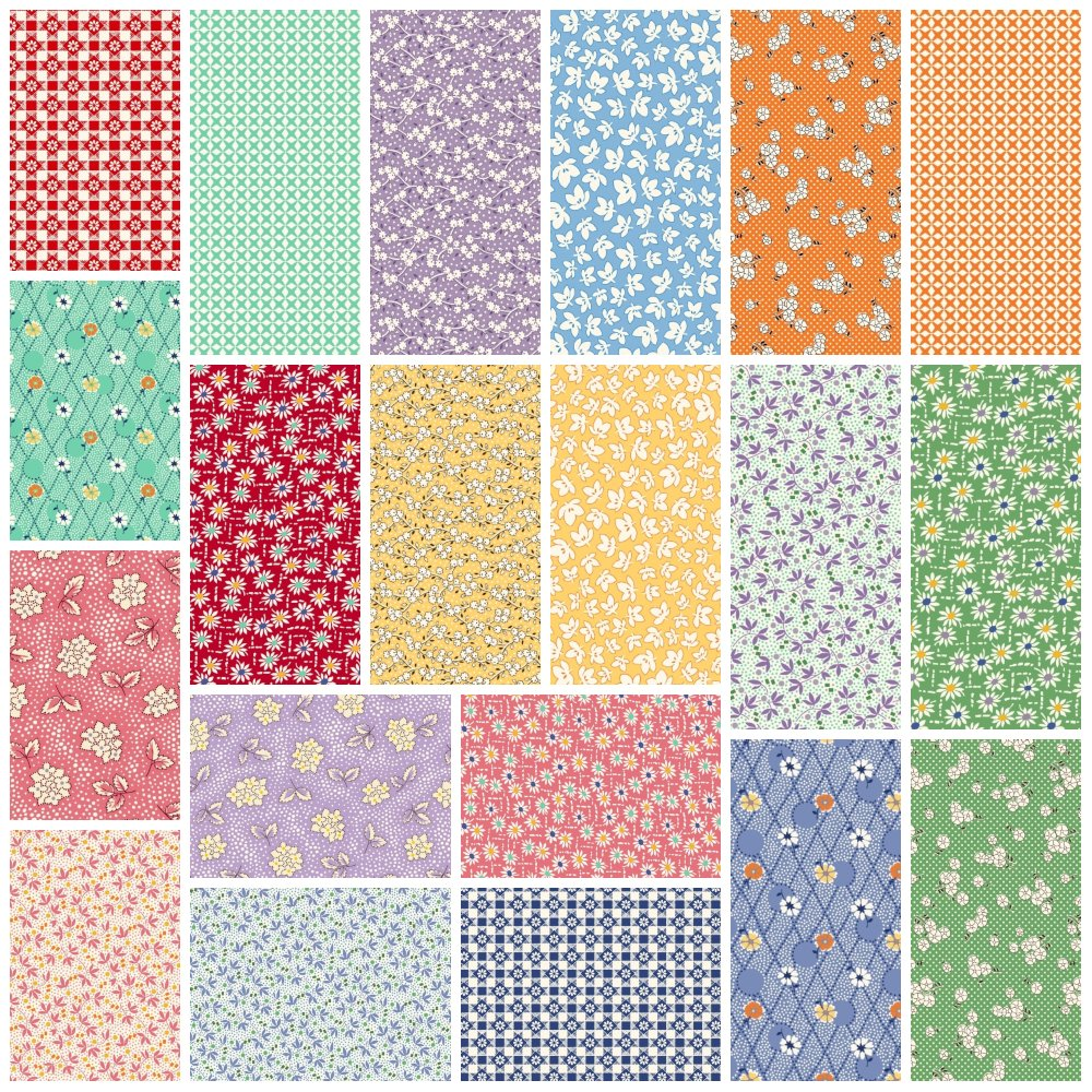 Aunt Grace's Flower Pots- Fat Quarter Bundle
