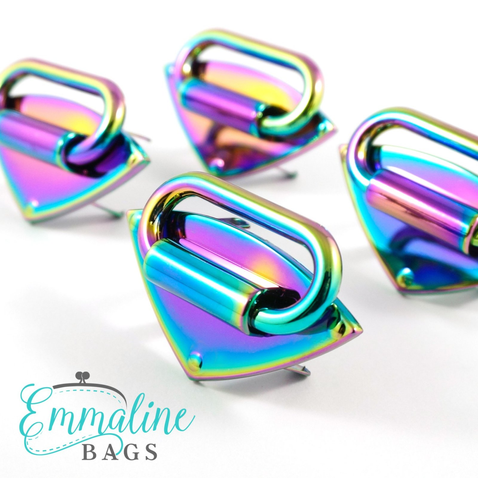 Diamond Strap Anchor- Iridescent Rainbow 4 Pack