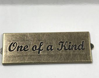 Bag Label - SC  - One of a Kind  Ant Brass